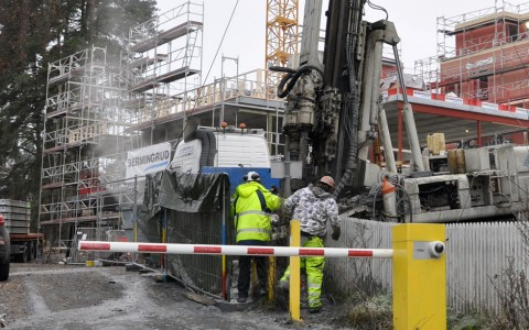Putting EDGE to the test: Here the equipment is used in the drilling of nine, 500 m deep holes for a major apartment complex near Oslo.