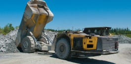 Modern, maneuverable, fast on grade and reliable: The Minetruck MT42, pictured here at Bell Creek, is equipped with the Atlas Copco Rig Control System (RCS).