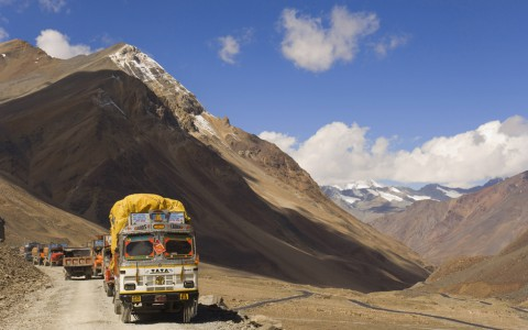 On the move in the Himalayas. New tunnels will make famous mountain road shorter, easier and safer.