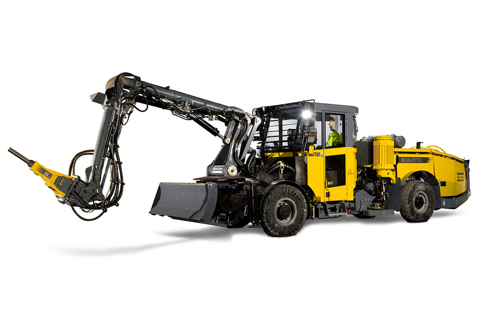 Boliden's Tara Mines in Ireland has improved safety as well as productivity by investing in Atlas Copco Scaletec rigs for mechanized scaling.