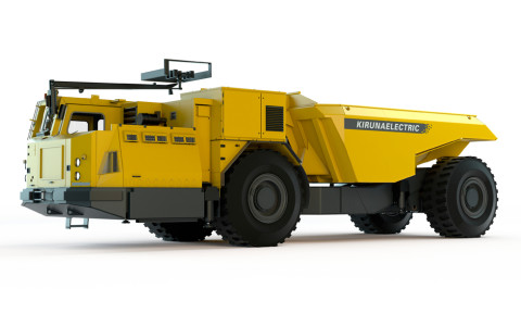 The new Atlas Copco Electric Minetruck EMT50