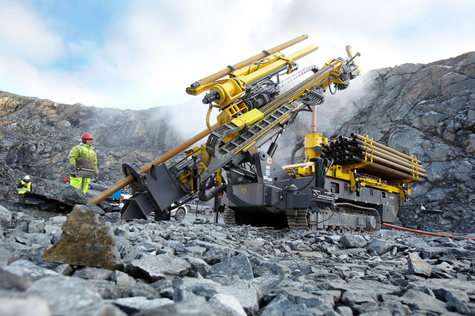 The new Explorac 100 performs RC drilling at Sweden's Björkdalsgruvan, the largest pure gold mine in Northern Europe.