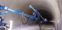 Today, due to its high capacity, only the wet mix method is used in tunnels for which MEYCO robotic equipment is ideally suited.