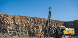 Surface drill rig Atlas Copco SmartROC T45 in Quarry