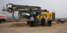 Atlas Copco's surface drill rig, PowerROC D55, is making a small, but important contribution to a solution.