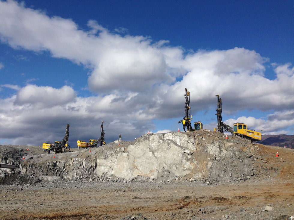 Atlas Copco PowerROC rigs help to provide tonnes of material for the reconstuction of an entire community.