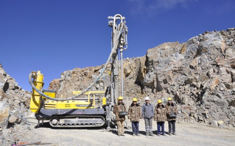 Atlas Copco's Explorac 100 reverse circulation drilling rig