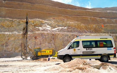 Remote control makes its debut at the Radomiro Tomic mine.