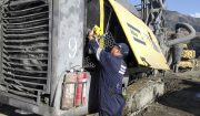 The audit was carried out on a fleet of seven surface drill rigs leading to a major overhaul by the Atlas Copco service team in Nanjing.